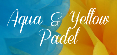 Aqua and Yellow Padel